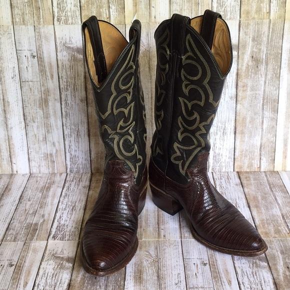 aa2ea9d3841 Justin Iguana Skin Cowboy Boots